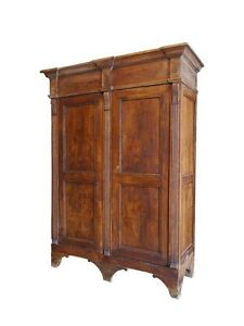 kleiderschrank dielenschrank schrank historismus um 1861 esche massiv 5467 ebay. Black Bedroom Furniture Sets. Home Design Ideas