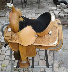 Circle-Y-Western-Pleasure-14-1-2-034-Youth-Show-Saddle-w-Silver