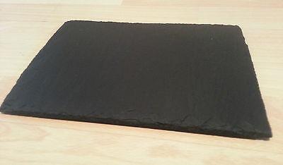 Slates-R-us new oil treated Spanish slate cheese board chopping board. 15 x 25cm