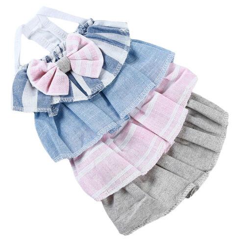 Pet Bow Dress Puppy Dog Cat Skirt Princess Tutu Dress Summer Clothes Apparel D