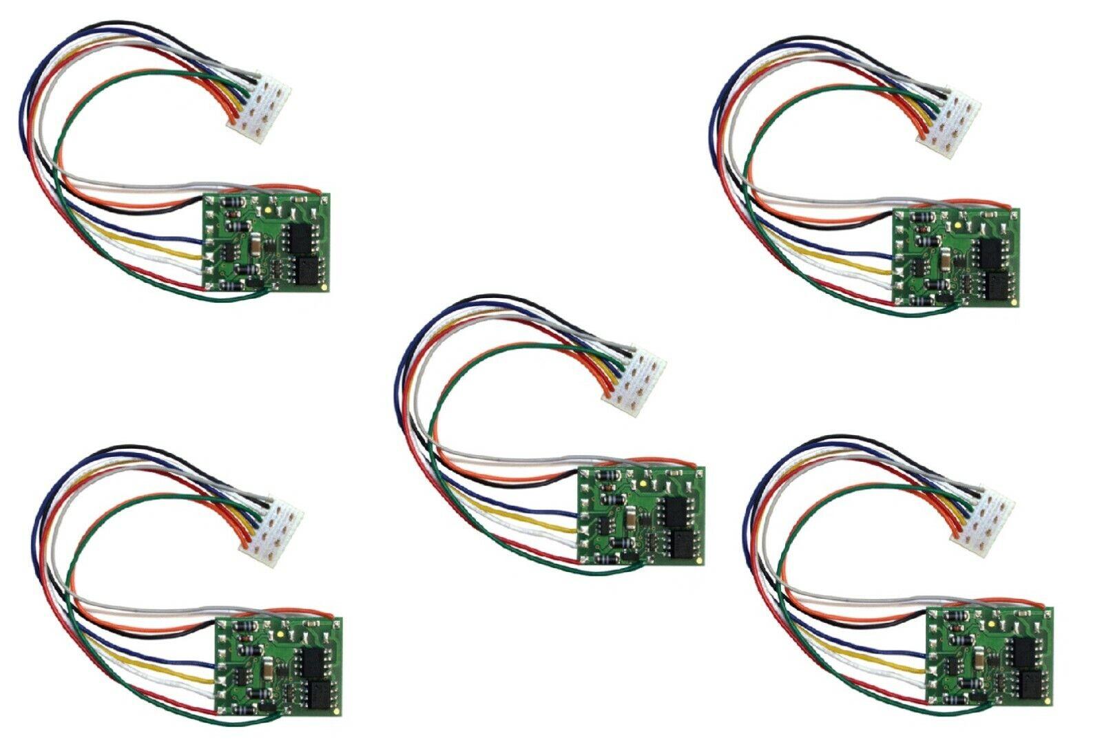 5er Set Tams ldg32.2   Lokdecoder DCCMM con NEM 652spina NUOVO OVP