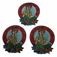 Disney's Peter Pan Series Peter Pan Sitting Embroidered Patch Set Of 3