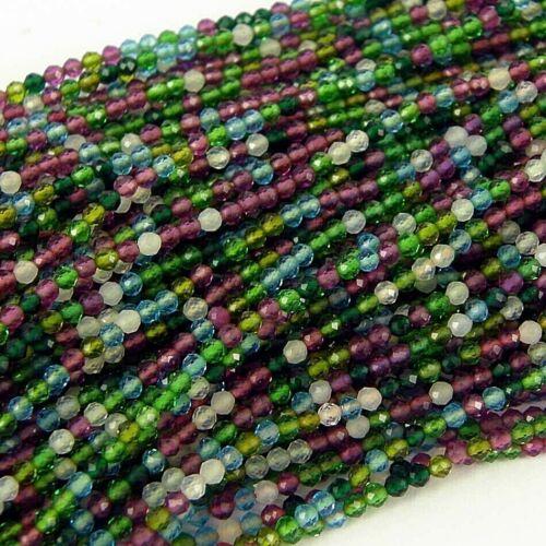 aprox 2mm 180+ Emerald mezclado Hermosa Cadena de Cristal Semilla Cuentas-Talla 11//0