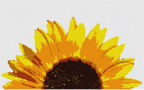 Blooming Sunshine Needlepoint Kit or Canvas Sunflower//Floral//Flower//Nature