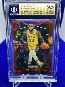 2019-20-PANINI-PRIZM-LEBRON-JAMES-RED-ICE-129-BGS-9-5-GEM-MINT-LA-LAKERS-PSA-10