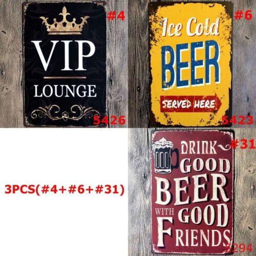 Vintage Retro Metal Sign Tin Beer Bar Pub Club Plate Home Wall Decor Art Poster