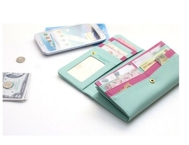 Fashion Women Zip Clutch Case Wallet For GALAXY NOTE2 S3 S4  iPhone 5 LG Nexus4