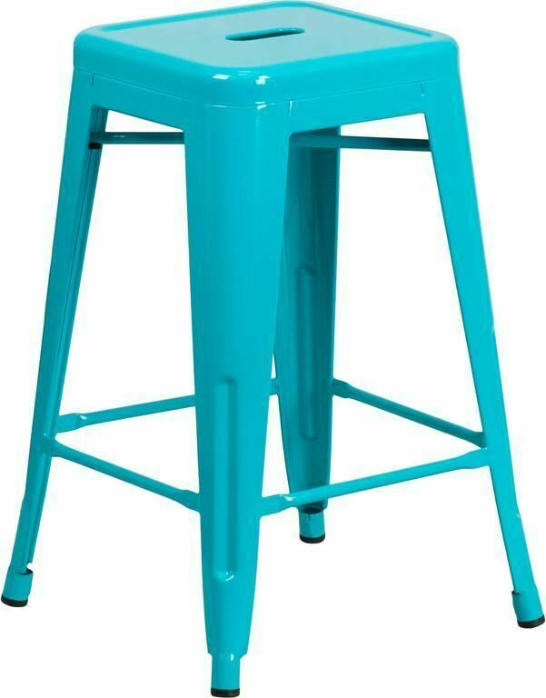 Flash Furniture 24 Inch Backless Orange, 24 Inch Height Chairs
