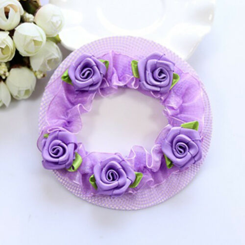 Cute Girls/' Flower Bun Hair Nets for Dancersr Kids/' Hair Accessories Dancewear