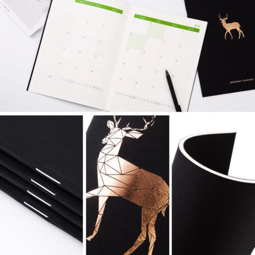 Gift 2018 Schedule Notebook Monthly Sketchbook Planner Book Weekly Notepad