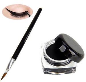 Pro-Waterproof-Eye-Liner-Liquid-Eyeliner-Shadow-Gel-Makeup-Cosmetic-Brush-Bl-HC