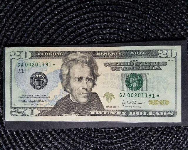 2004A $20 Federal Reserve Note STAR Birthday <> Sep 1 2011 <> Boston