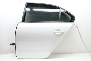 17-VW-JETTA-REAR-LEFT-DRIVER-DOOR-ASSEMBLY-WHITE-LC9A-OEM-11-12-13-14-16-17