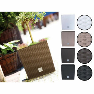 QUALITY-Rattan-Style-Square-Plastic-Garden-Flower-Plant-Herb-Planting-Robust-Pot