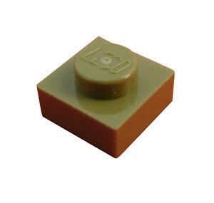 Lego-10-Stueck-olivgruene-olive-green-Platte-1x1-3024-Neu-Platten-in-olivgruen