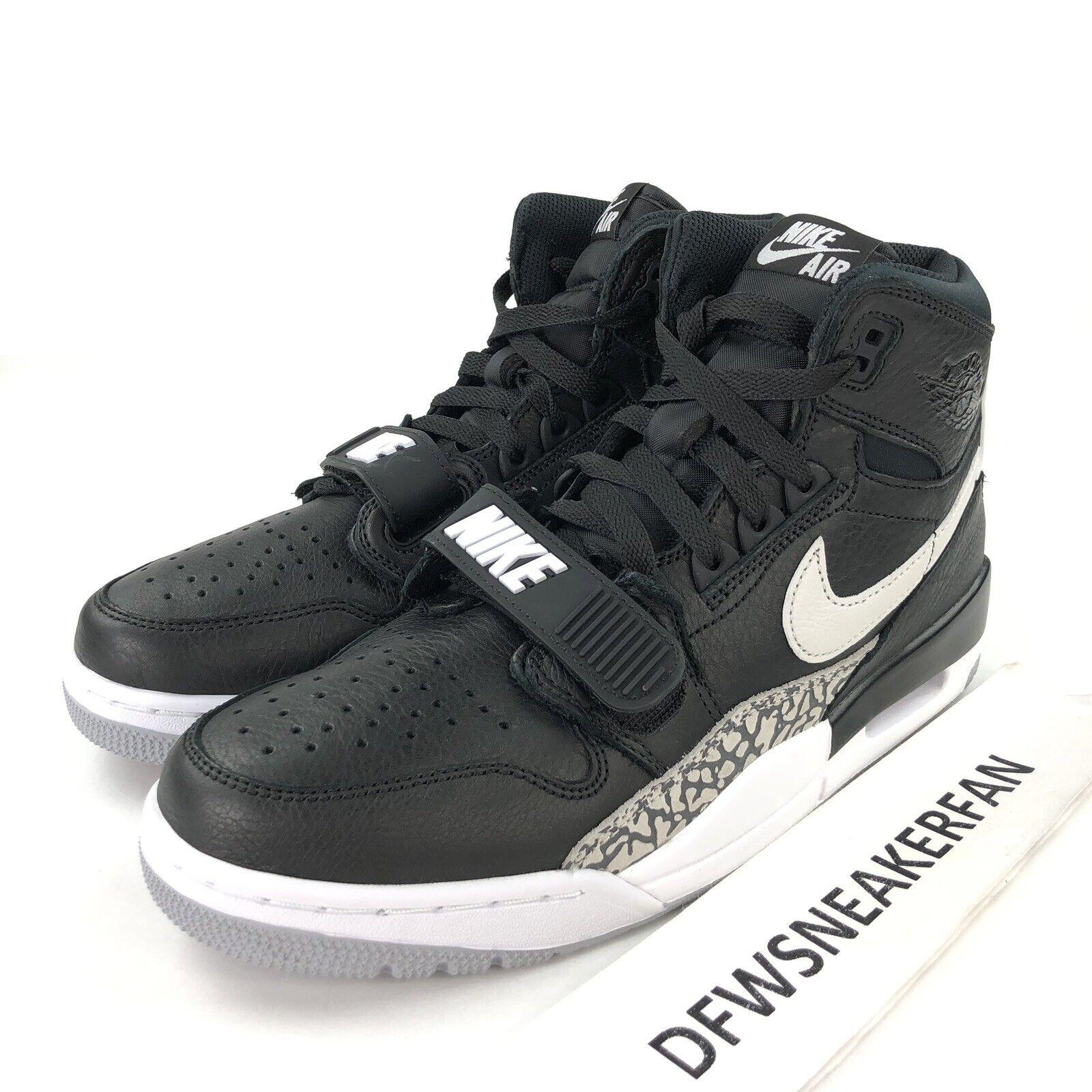 Nike Air Jordan Legacy 312 Men's 10 Black White Cement AV3922 001 Basketball