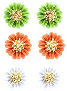 Pretty-daisy-plum-flower-stud-earrings-50s-60s-retro-multiple-choices