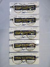 Lot of 5 Girard 6828 Round Unisex Eyeglass Frame Spring Hinges Gold 46-20 - NOS