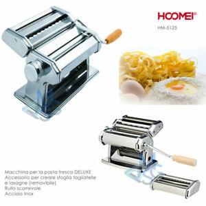 Macchina-per-la-pasta-fresca-Acciaio-Inox-Rullo-Sfoglia-Removibile