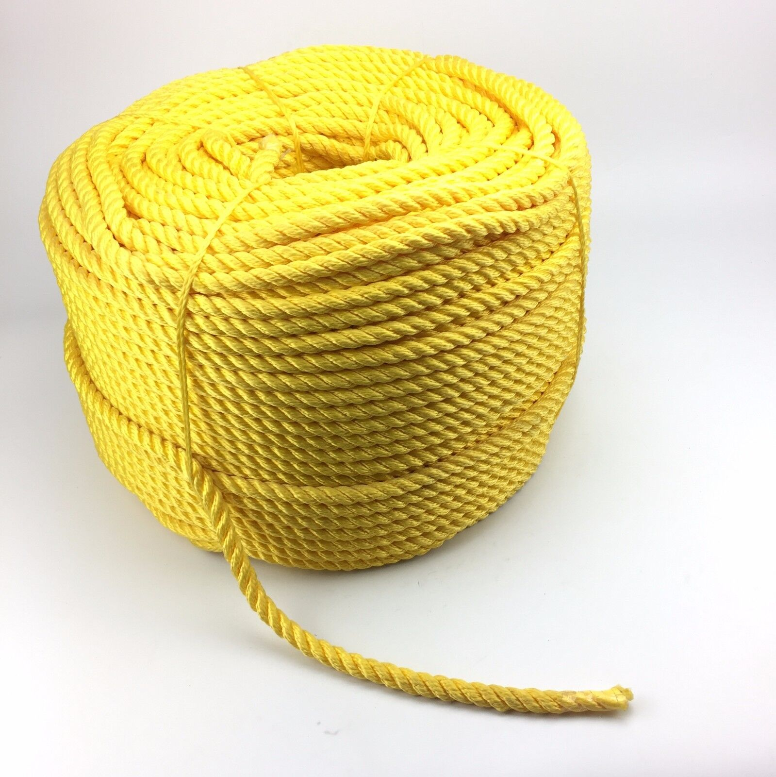 3 Strand Yellow Multifilament 14mm (Floating Rope) x 220m Coil Boats Yachts