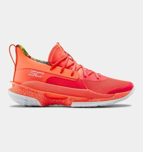 Under Armour UA Men/'s Curry 7 Sour Patch Kids Peach Plasma Beta 3021258-603