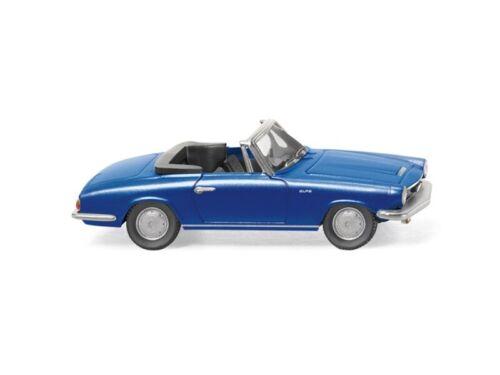 blau metallic 1:87 Wiking 18649 Glas 1700 GT Cabrio H0