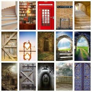 3D Door Wall Bookcase Sticker Mural Scene Self Adhesive Wallpaper Home Decal PVC