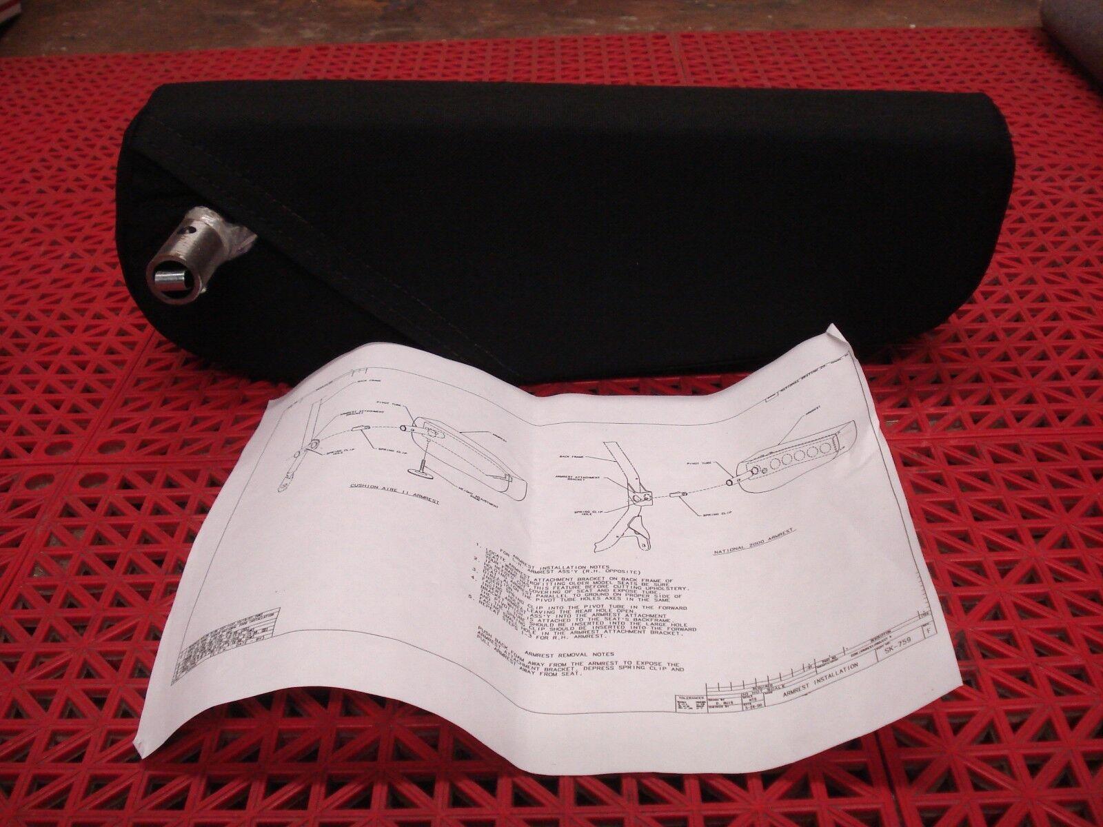National Seating U-arm Armrest 235230 LH Black Mordura 15