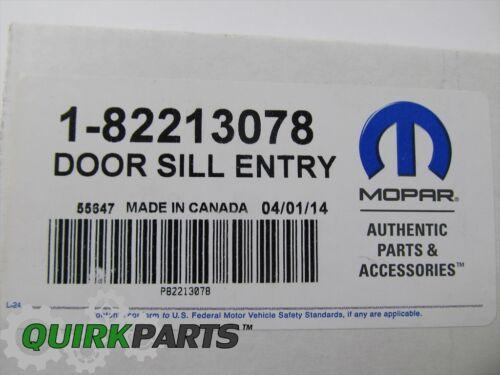 13-16 DODGE DART STAINLESS STEEL DOOR SILL ENTRY GUARDS GENUINE MOPAR 82213078