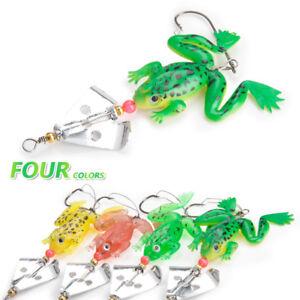 4PCS //Lot 10cm Soft Rubber Bass Bait Spinner lures CrankBait Tackle Fishing Lure