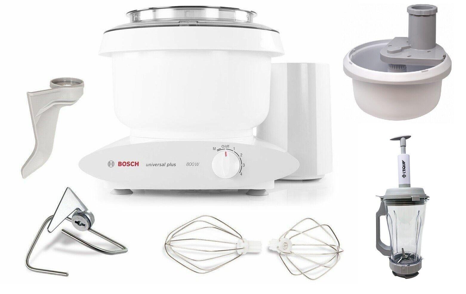 Bosch Universal Plus 800W 6.5 Qt Kitchen Mixer with Spiralizer & Vacuum Blender