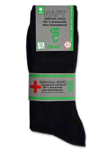 4//8//12 paia di calze da uomo senza elastico 100/% cotone Nero Uomo Diabetici