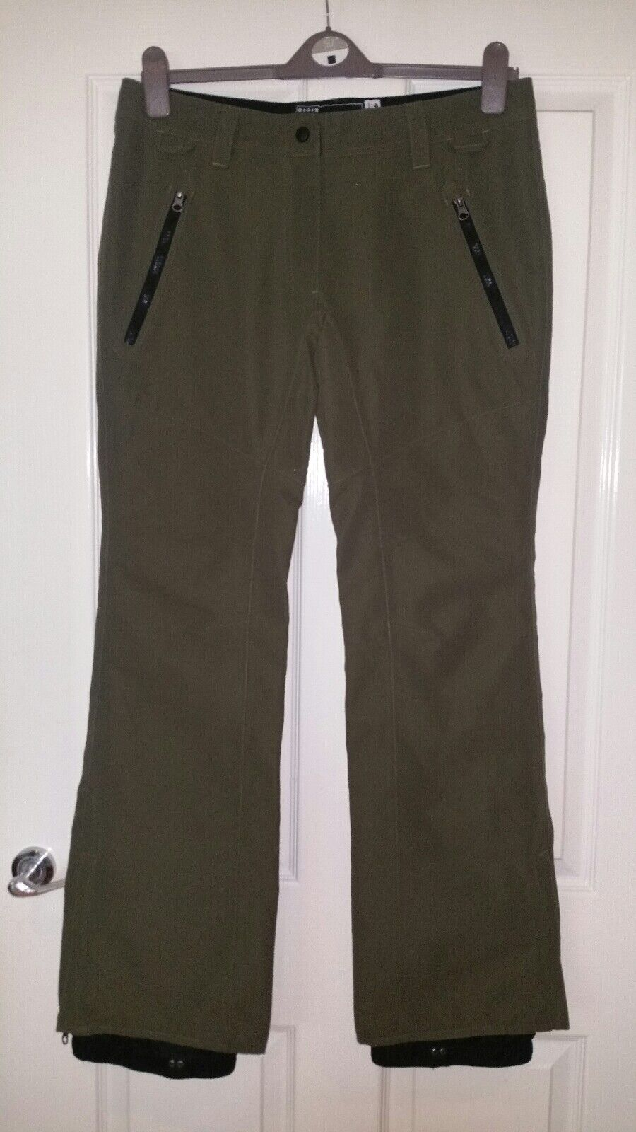 Womens snowboard ski trousers  pants jeans size M WESTBEACH olive green 10.000mm  buy brand