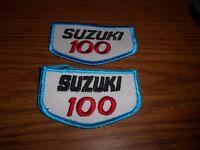 Qty 2 Vintage Suzuki 100 Dr100 Sp100 Ac100 Jacket Hat Patches 3 1/2 X 2
