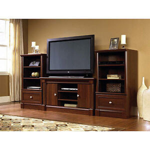 NEW Cherry Wood Entertainment Center Living Room Furniture TV Stand Storage U