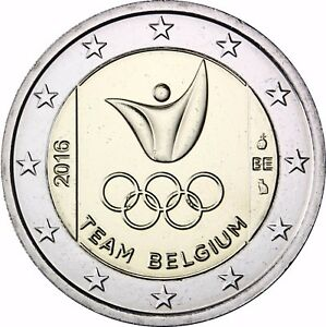 Belgien 2 Euro Münze Olympiade In Rio 2016 Stempelglanz Gedenkmünze