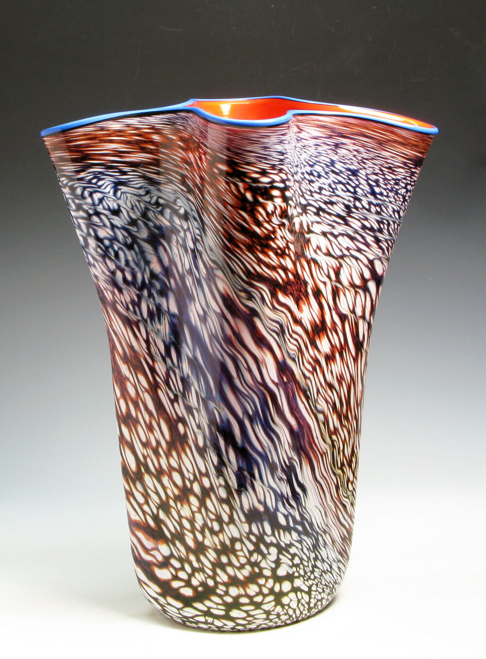 Superb Art Glass Vase Vase Vase by PHILABAUM   CARLSON from the Perseid Series of 1985 1c5639