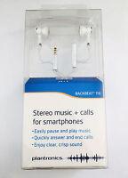 Plantronics BackBeat 116 White Stereo Headset Headphones Earbud w/ Built-in Mic