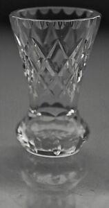 Vintage-Retro-Cut-Crystal-Bud-Posy-Vase-11-cm-high-260g-EUC