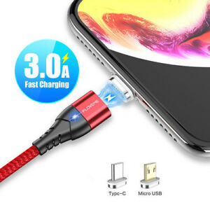 FLOVEME-3A-Magnetic-Braid-Micro-USB-Type-C-Fast-Charging-Charger-Data-Sync-Cable