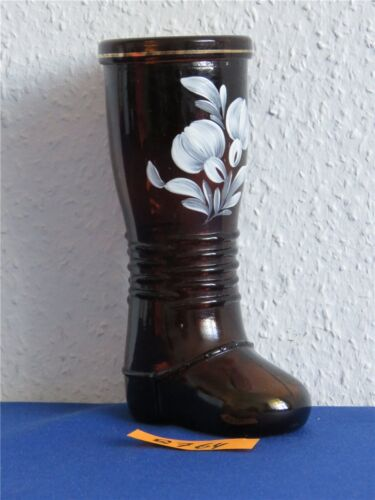 DDR Glasstiefel Vase Stiefel Glasvase Pressglasvase Blumenvase Tischvase EVP