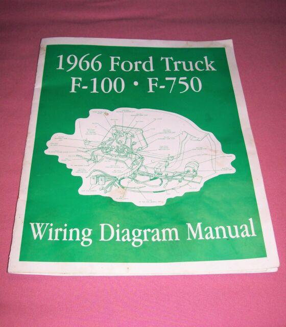 1966 Ford Truck F-100 thru F-750 Wiring Diagram Manual | eBay