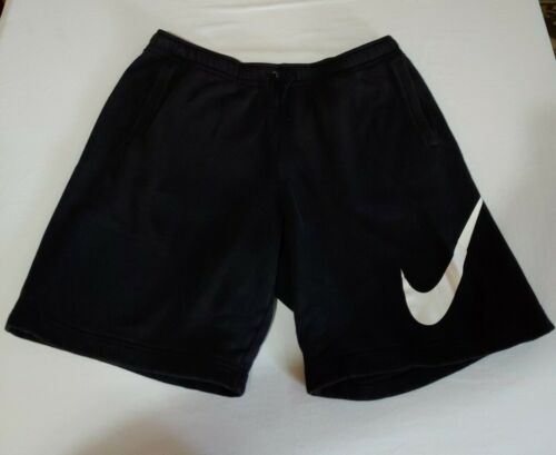 Nike Men's Fleece Sweat Shorts Black/White Size 2X