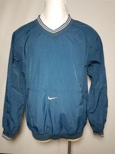Nike XXL Vintage Blue Men's Pullover V-Neck Nylon