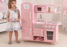 KidKraft Vintage Kitchen Pink Wooden Pretend Play Children Kids Life Like New
