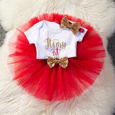7ce246848 item 1 Baby Girls 1st First Birthday Dress Romper Tutu Skirt Headband Cake Outfits  Kids -Baby Girls 1st First Birthday Dress Romper Tutu Skirt Headband Cake  ...