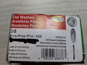 100-3-8-Flat-Washers-Galvanized-Steel