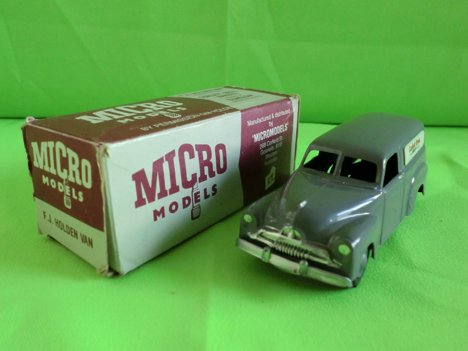 MICRO MODELS - G.M. HOLDEN F.J. VAN  - CORLETT    IN  BOX      IN MINT CONDITION