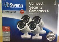 Swann Pro-540 Day/night 650tvl Security Camera Swpro-540wt4-us 4 Pack