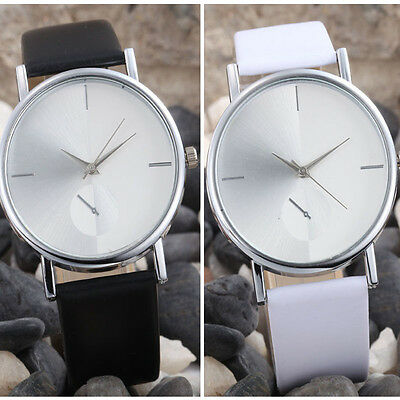 Fashion Design Dial Leather Band Analog Quartz Women's Wrist Watch NEW